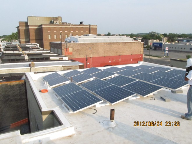 Solar installed at Walnut Hill West